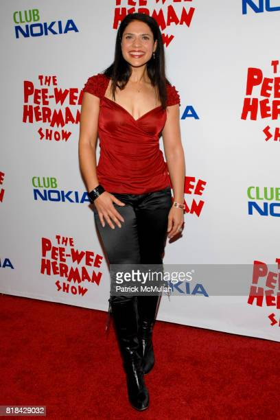 Monique Gabriela Curnen attends The Pee Wee Herman Show Opening Night at Club Nokia on January 20 2010 in Los Angeles California