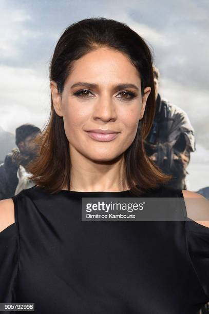 Monique Gabriela Curnen attends the world premiere of '12 Strong' at Jazz at Lincoln Center on January 16 2018 in New York City