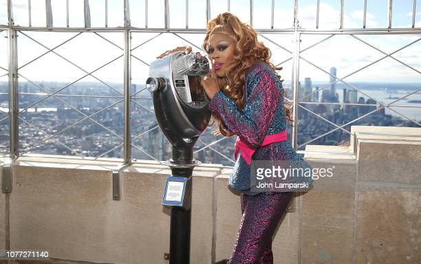 Monique Heart from the cast of RuPaul's Drag Race All Stars visits the Empire State Building Hosts Cast Of RuPaul's Drag Race All Stars at The Empire...