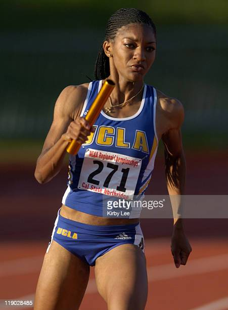 Monique Henderson of UCLA won the women's 400-meters in a school record 50.65 seconds for the third fastest time int he world this season in the NCAA...