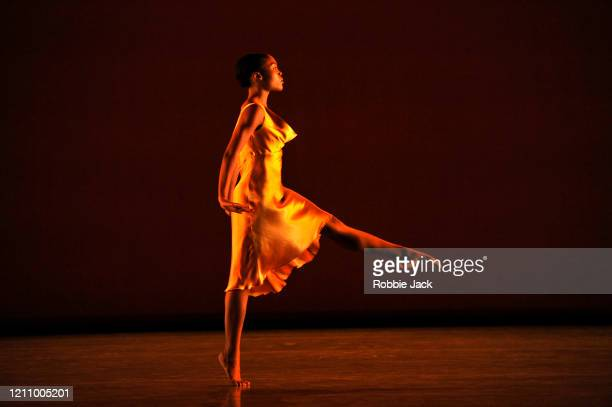 Monique Jonas in The Richard Alston Dance Company's production of Richard Alston's Voices And Light Footsteps at Sadler's Wells Theatre on March 07,...
