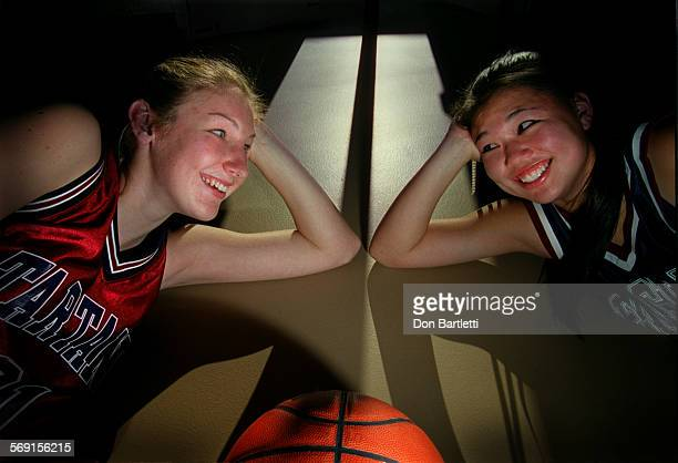 Monique Kettler a senior from St Margarets school and Bethany Thom a junior at Capistrano Valley Christian school are top scorers in their...