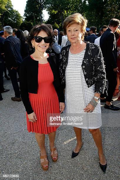 Monique Lang and MarieLouise de Clermont Tonnerre attend the Federation Francaise De La Couture Closing Party as part of Paris Fashion Week Haute...