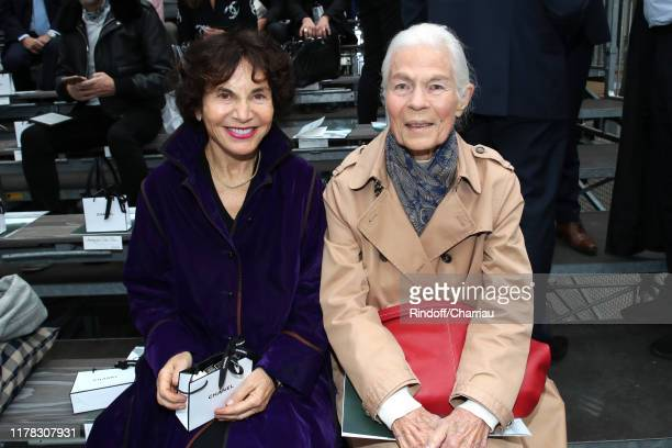 Monique Lang and Micheline Chaban Delmas attend the Chanel Womenswear Spring/Summer 2020 show as part of Paris Fashion Week on October 01 2019 in...