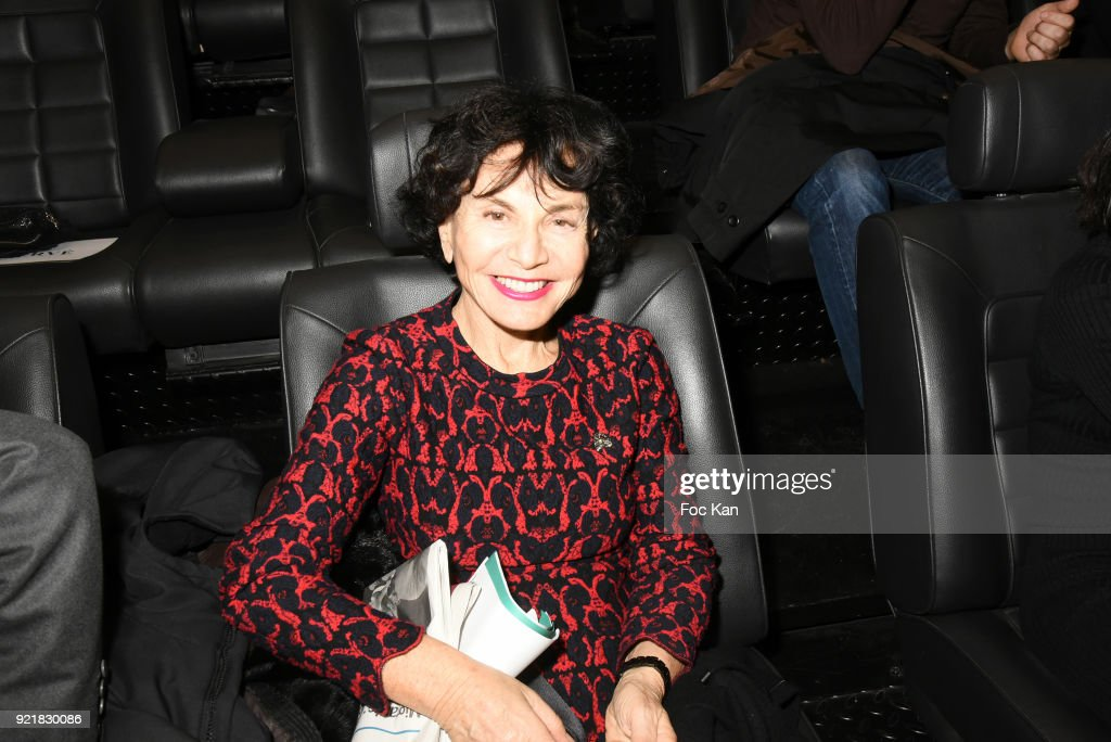 Monique Lang attends 'L'Amour Des Hommes' : Premiere At Institut du Monde Arabe on February 20, 2018 in Paris, France.