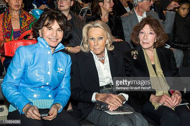 Monique Lang Micheline Maus and Charlotte Aillaud attend a tribute to late fashion designer Yves Saint Laurent at Opera Bastille on June 10 2013 in...