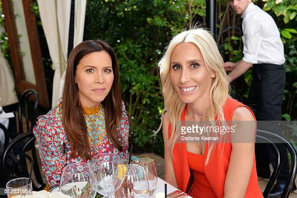 Monique Lhuillier and Alexandra von Furstenberg attend NETAPORTER Celebrates Women Behind The Lens at Chateau Marmont on February 26 2016 in Los...