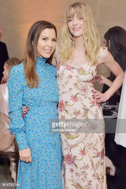 Monique Lhuillier and Jaime King attend Rachel Zoe Fall 2018 LA Presentation on February 5 2018 at The Jeremy Hotel in West Hollywood California