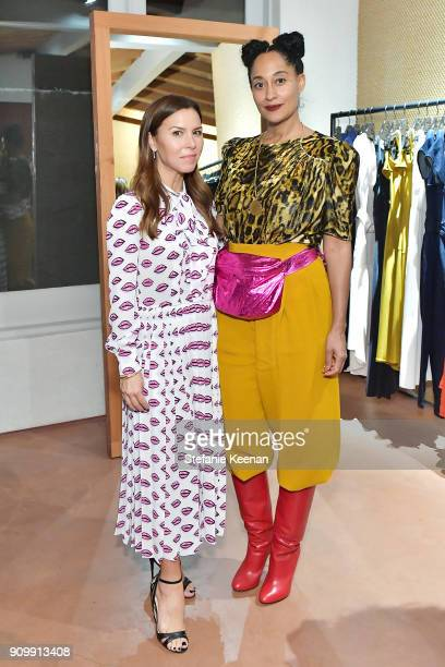 Monique Lhuillier and Tracee Ellis Ross attend Conde Nast The Women's March Organizers Host a Cocktail Party to Celebrate the One Year Anniversary of...