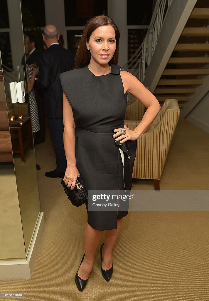 Monique Lhuillier attends the David Webb Dinner in honor of LAXART at Sunset Tower on May 1, 2013 in West Hollywood, California.