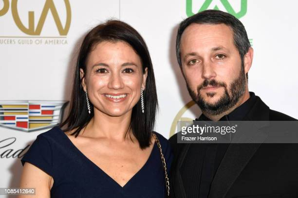Monique Mckittrick and Sean McKittrick attend the 30th annual Producers Guild Awards at The Beverly Hilton Hotel on January 19 2019 in Beverly Hills...