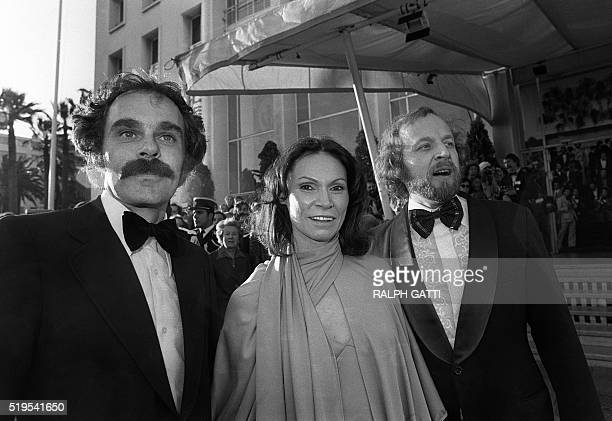 Monique Mercure, a Canadian actress from Quebec, is surrounded by film director Jean Beaudin and Marcel Sabourin, an actor, film director, both of...