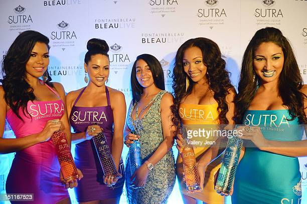 Monique Mosley arrives at LeSUTRA Sparkling Liqueur launch at Fontainebleau Miami Beach on September 1 2012 in Miami Beach Florida