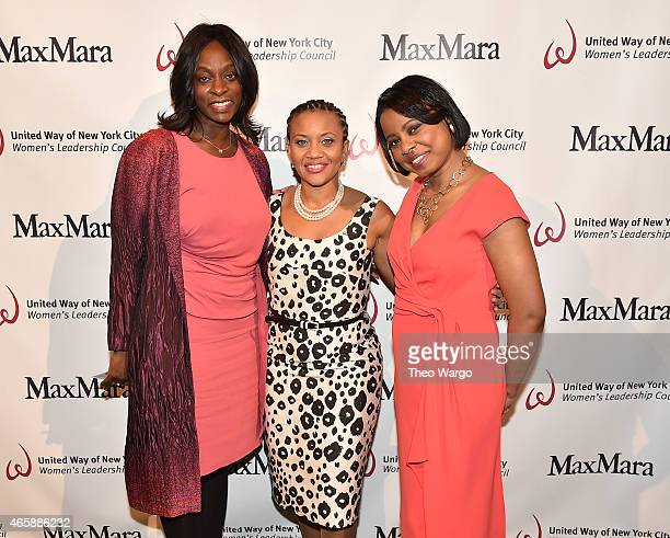 "Monique Nelson, Sheena Wright and Tracie Strahan attend the United Way of New York City's ""Power Of Women To Make A Difference"" Awards Luncheonat..."