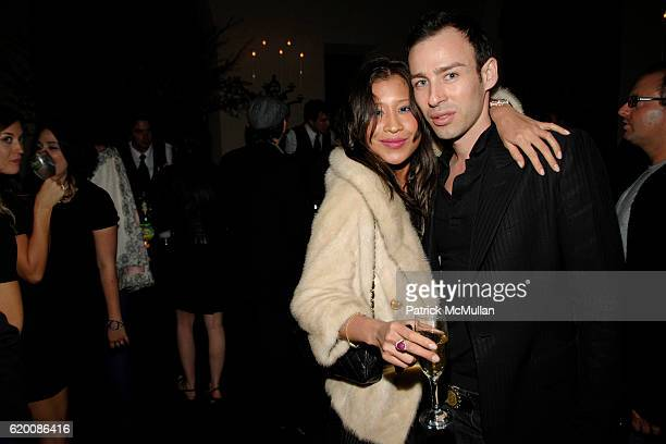 Monique Nguyen and Alexis Roche attend NICOLAS BERGGRUEN's Annual Party at Chateau Marmont at Chateau Marmont on February 20 2008 in Los Angeles CA