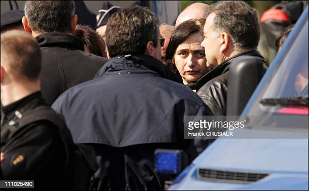 Monique Olivier takes part in reconstruction of the 1988 abduction and murder of Fabienne Leroy in ChalonsenChampagne France on April 11st 2006