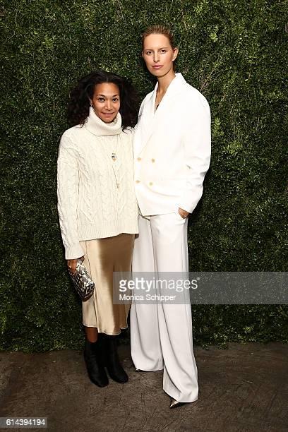 Monique Pean and model Karolina Kurkova attend the Franca Chaos And Creation New York Screening at Metrograph on October 13 2016 in New York City