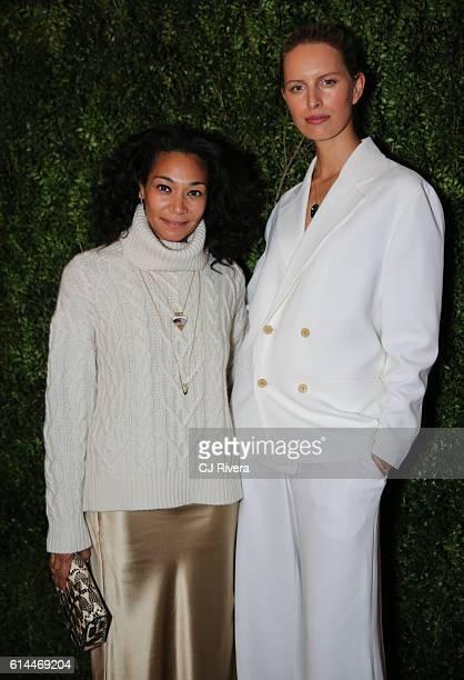 Monique Pean and model Karolina Kurkova attend the 'Franca Chaos and Creation' New York Screening at Metrograph on October 13 2016 in New York City