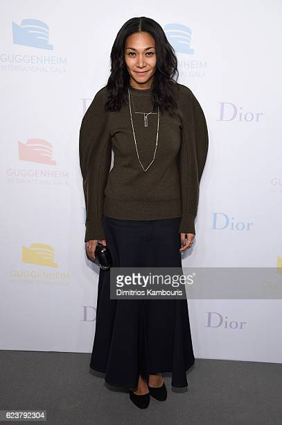 Monique Pean attends the 2016 Guggenheim International PreParty made possible by Dior at Solomon R Guggenheim Museum on November 16 2016 in New York...
