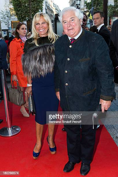Monique Pozzo di Borgo and Pascal Clement arrive to the premiere of the movie Quai d'Orsay organized by the Claude Pompidou foundation prior to...