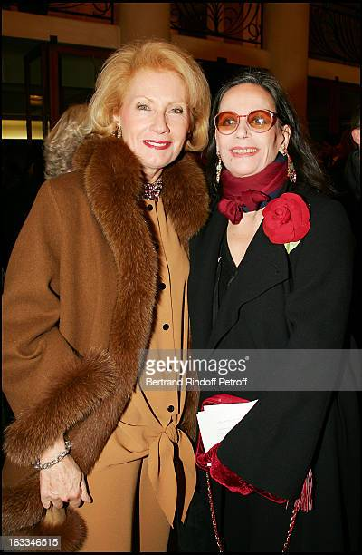 Monique Raimond and Claudine Auger at the 12th Gala Performance Musique Contre L' Oubli In Aid Of Amnesty International At Theatre Champs Elysees In...