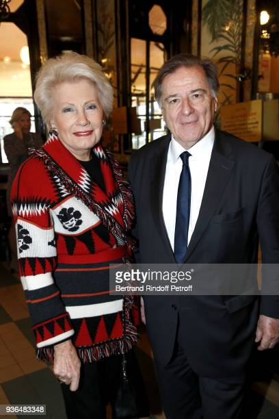 Monique Raimond and Former Minister France Vietnam Claude Blanchemaison attend the 83rd Prix Cazes de la Brasserie Lipp Literary Prize at Brasserie...