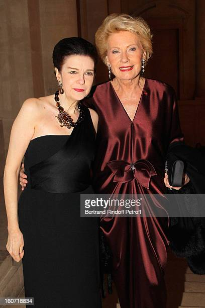 Monique Raimond and Princess Nesrine Toussoun attend the gala dinner of Professor David Khayat's association 'AVEC' at Chateau de Versailles on...