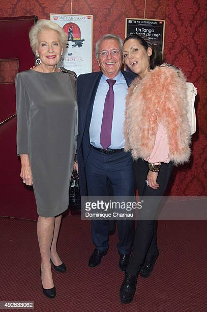 Monique Raimond guest and Princesse Hermine de ClermontTonnerre attend the Un Certain Charles Spencer Chaplin Premiere and Gala To Benefit Aide Et...