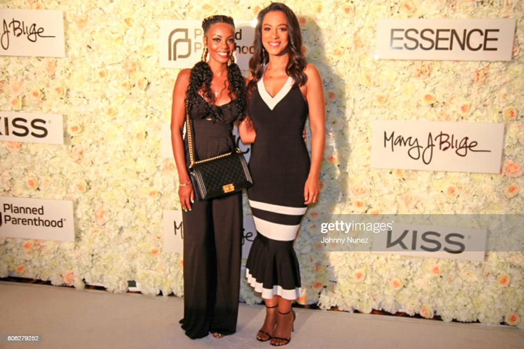 Monique Rodriguez (L) and Angela Rye attend the 2017 Essence Festival on July 2, 2017 in New Orleans, Louisiana.