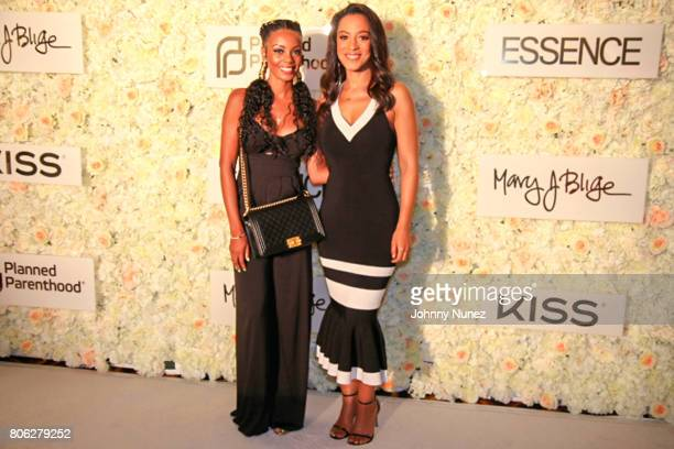 Monique Rodriguez and Angela Rye attend the 2017 Essence Festival on July 2 2017 in New Orleans Louisiana