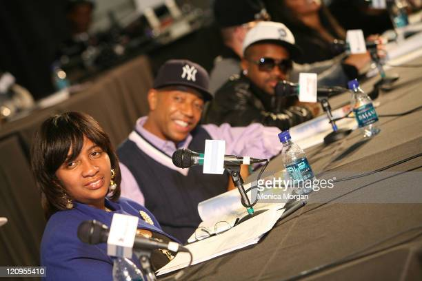 Monique Tate ManagerDiversity Marketing for Chrysler Financial HipHop Summit Action Network Chairman Russell Simmons and Jermaine Dupri attend the...