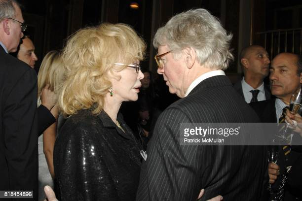 Monique Van Vooren and Dr Bruce Horten attend DOUGLAS HANNANT and AVENUE Celebrate The New Decade at The Plaza Hotel on January 12 2010 in New York...