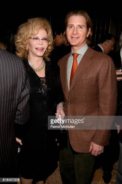 Monique Van Vooren and Eric Javits attend DOUGLAS HANNANT And AVENUE Celebrate New Decade At The Plaza at The Plaza on January 12 2010 in New York...