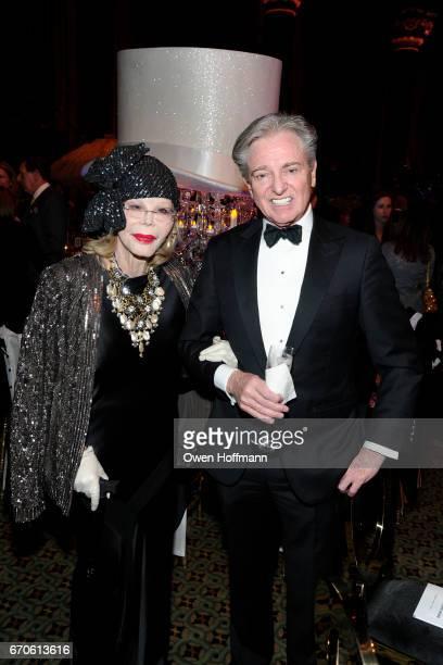 Monique van Vooren and Geoffrey Bradfield attend LNHN Honours Geoffrey Bradfield and John Manice at Cipriani 42nd Street on April 18 2017 in New York...