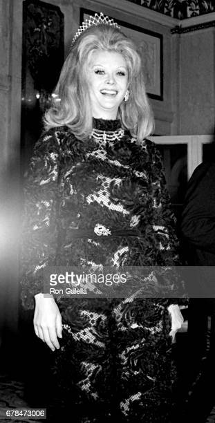 Monique van Vooren attends Diamond Ball on January 27 1969 at the Plaza Hotel in New York City
