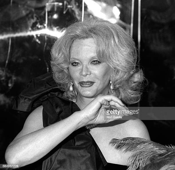 Monique van Vooren attends New Year's Eve Party on December 31 1983 at the Cat Club in New York City