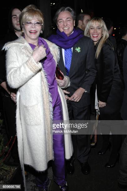 Monique Van Vooren Geoffrey Bradfield and Fay Zinger attend PATRICK MCMULLAN's Annual St Patrick's Day Party at Greenhouse on March 17 2009 in New...