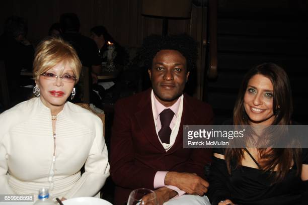 Monique Van Vooren Ike Ude and Muna Rihani attend Dinner for GEOFFREY BRADFIELD's Signature Collection at BUDDAKAN at Buddakan on May 18 2009 in New...