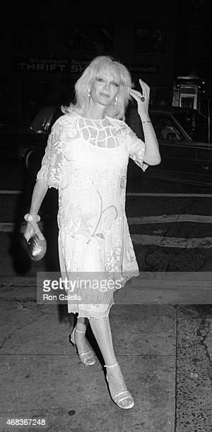 Monique Van Vooren sighted on June 29 1982 at Elaine's Restaurant in New York City