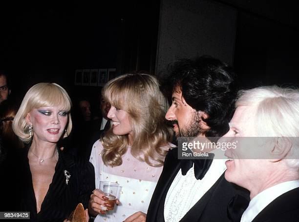 Monique Van Vooren Susan Anton Sylvester Stallone and Andy Warhol