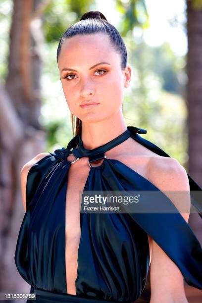 Monique Victoria attends Jonathan Marc Stein Autumn/Winter 2021 Virtual Show Debut Filming on April 29, 2021 in Studio City, California.