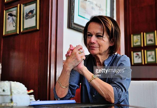 Monique Villa CEO of Thomson Reuters and Founder of TrustLaw in Delhi poses for a profile shoot on April 7 2014 in New Delhi India