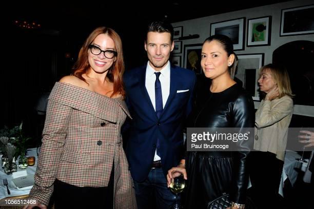 Monique Williams Alex Lundqvist and Keytt Lundqvist attend Rudd Oakville Estate Dinner at Bistrot Leo on October 17 2018 in New York City