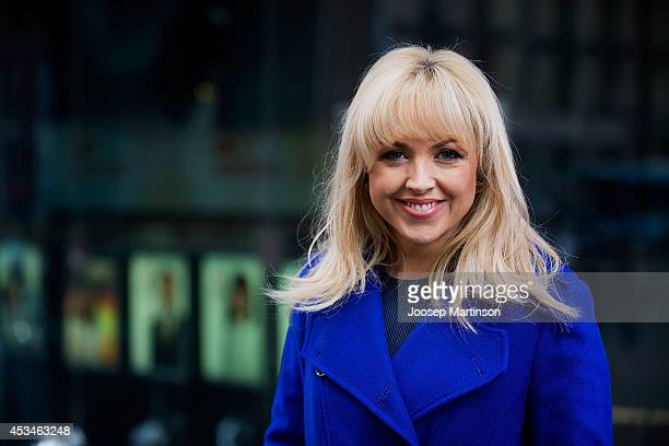 Monique Wright poses for a photograph during the Melbourne Cup Carnival activation at Martin Place on August 11, 2014 in Sydney, Australia.