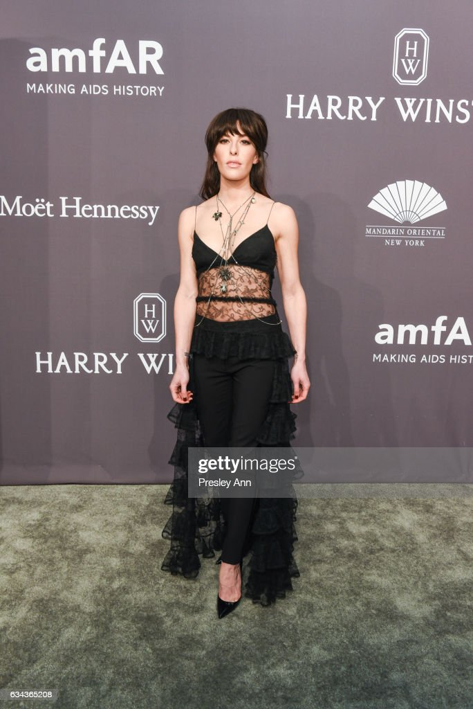Monique Zordan attends 19th Annual amfAR New York Gala- Arrivals at Cipriani Wall Street on February 8, 2017 in New York City.
