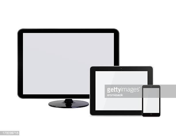 Mobil écran de télévision et téléphone