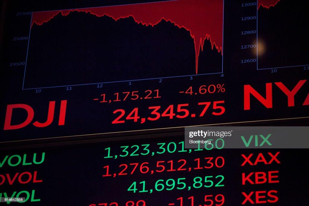U.S. Stocks Plunge Heading Into Market Close : News Photo