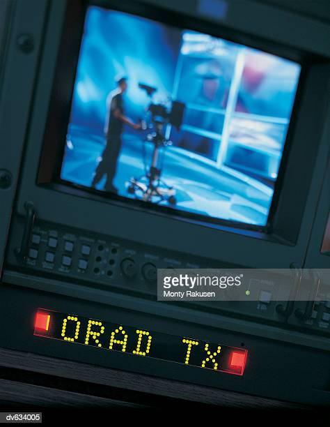 Monitor in television production studio