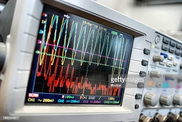 Monitoring vibration on oscilloscope