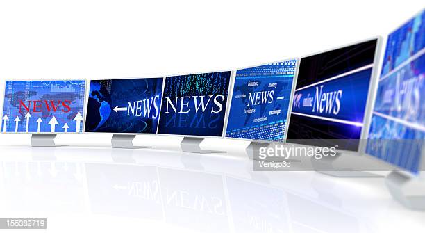 PC monitors with Business news concept